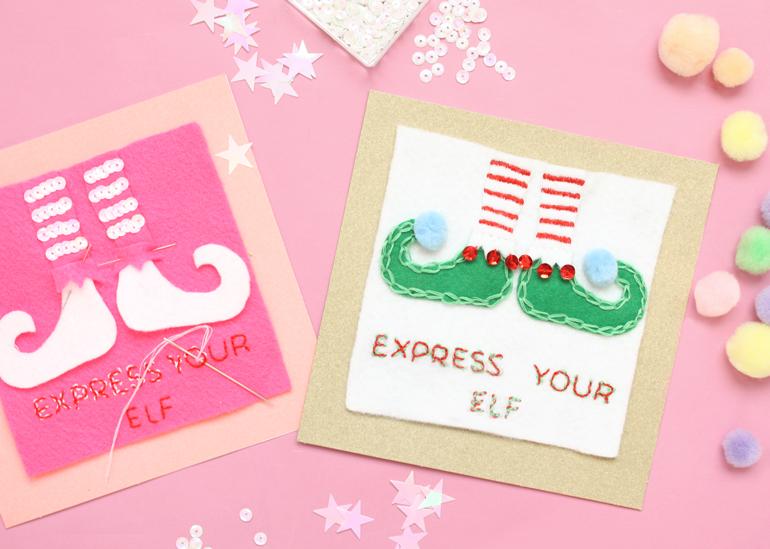 express your elf christmas card