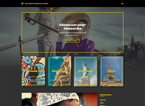 Wayfarer Blogging WordPress Theme