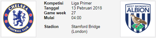 The blues Chelsea akan menjamu West Bromwich Albion PREDIKSI BOLA CHELSEA Vs WEST BROM