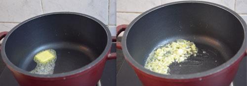 sauteing garlic