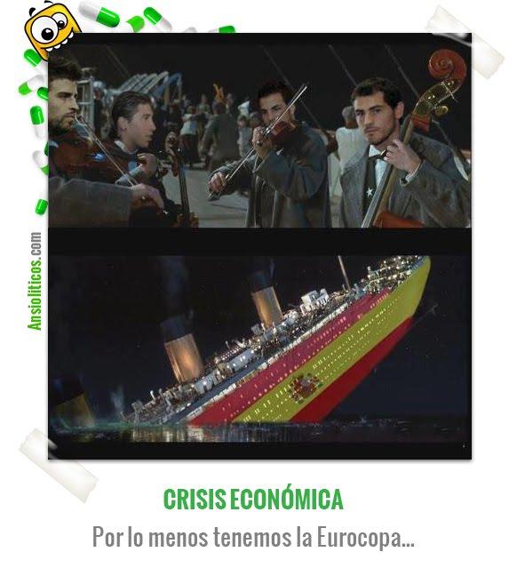 Chiste de la Eurocopa acerca de la Crisis Económica