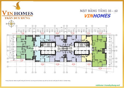 Mặt bằng tầng 35 - 42 Vinhome Trần Duy Hưng