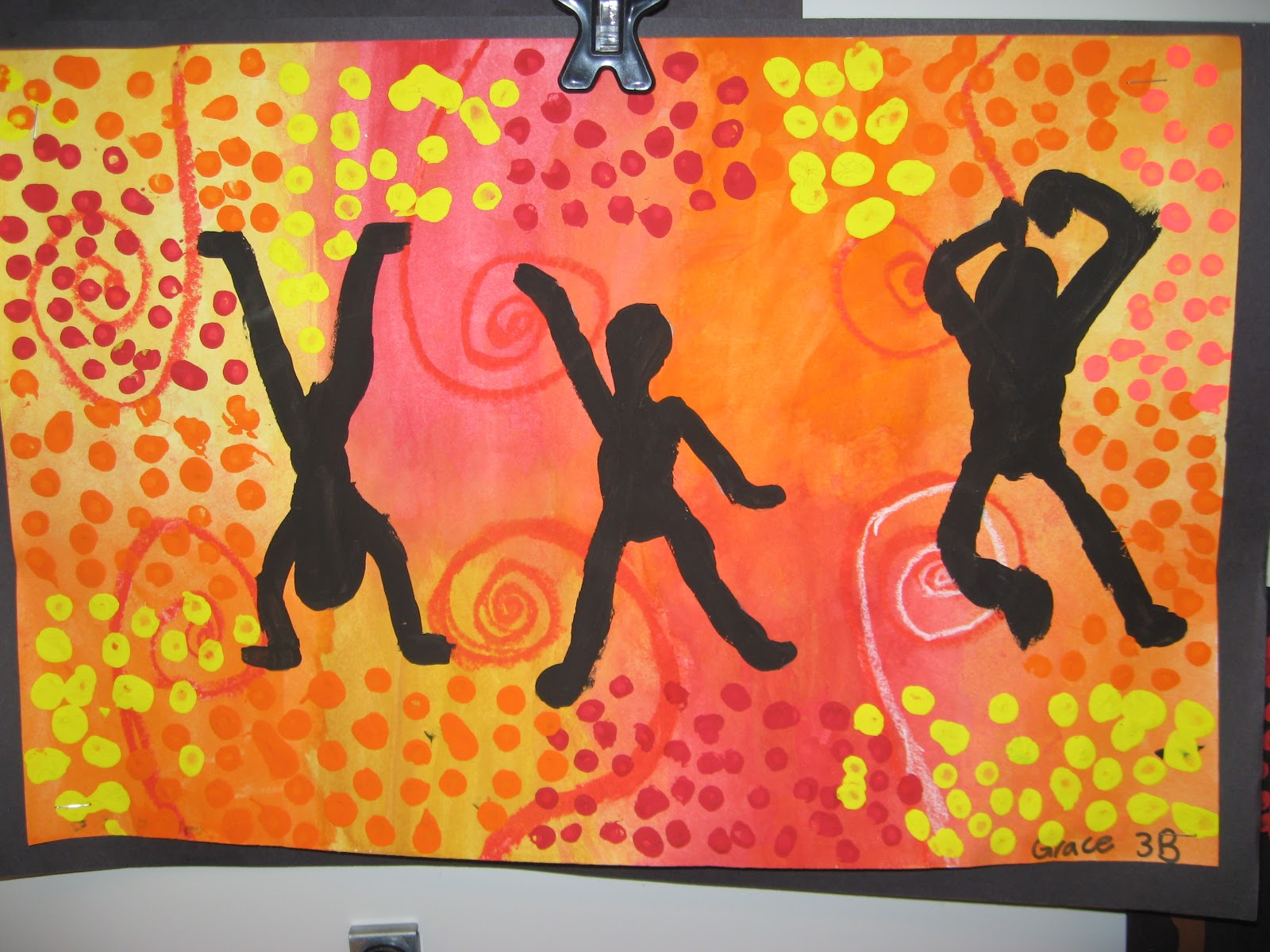 Jamestown Elementary Art Blog 3rd Grade Aboriginal Figure