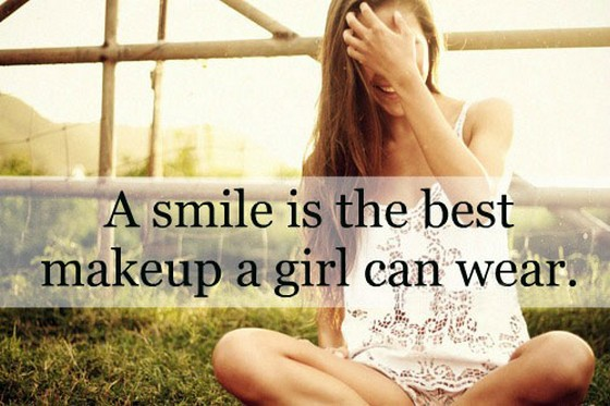 A Smile Is The Best Makeup Girl Can Wear Quote Makewallsco