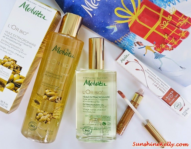 Melvita L'Or Bio Extraordinary Oil, Golden Lips, Extraordinary Shower , Melvita Malaysia, Extraordinary Oil, Pracaxi oil, kendi oil, inca inchi oil, buriti oil, argan oil, melvita, organic beauty, organic skincare, organic health