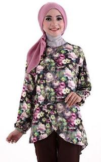 gaya baju batik muslim terbaru