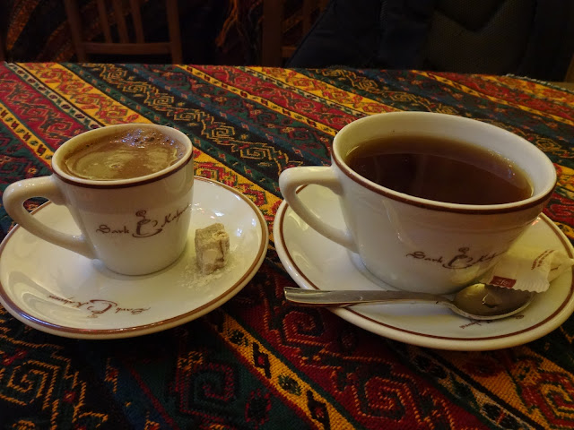 The local Turkish prefer to drink Turkish Tea as Turkish Coffee is too pricey served in a tiny cup in Turkey