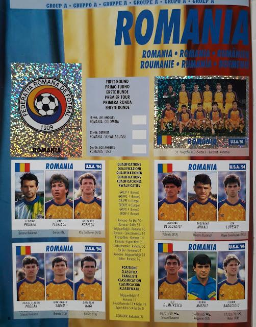 USA 94 WORLD SOCCER CHAMPIONSHIP GROUP A ROMANIA