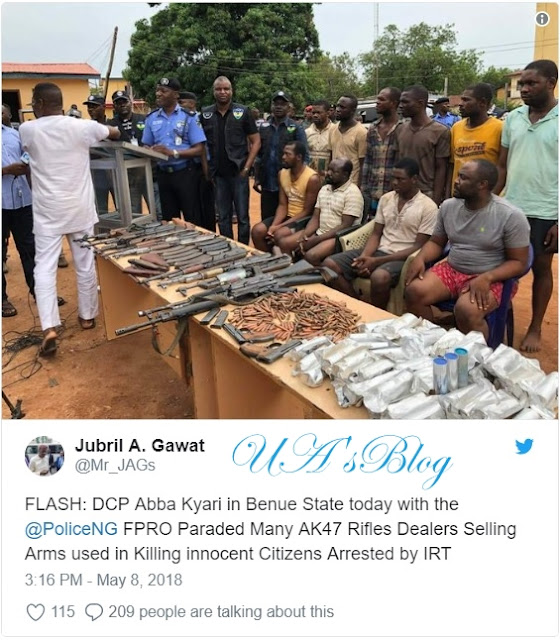 Police arrest AK47 rifles dealers selling arms to killers in Benue (photo)