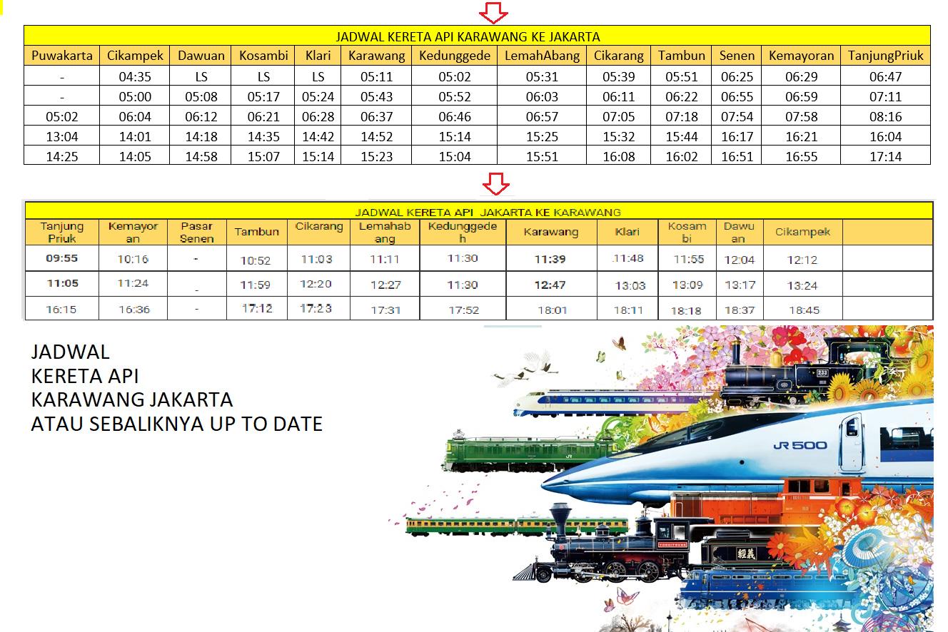 jadwal kereta api karawang jakarta atau sebaliknya yang up to date rh blogjeems blogspot com