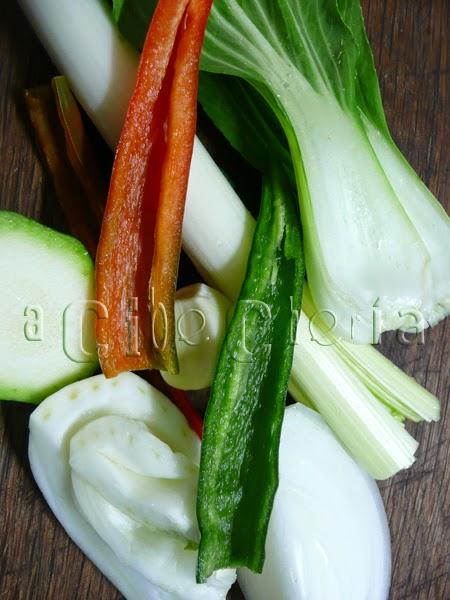 Frescas verduras para el relleno