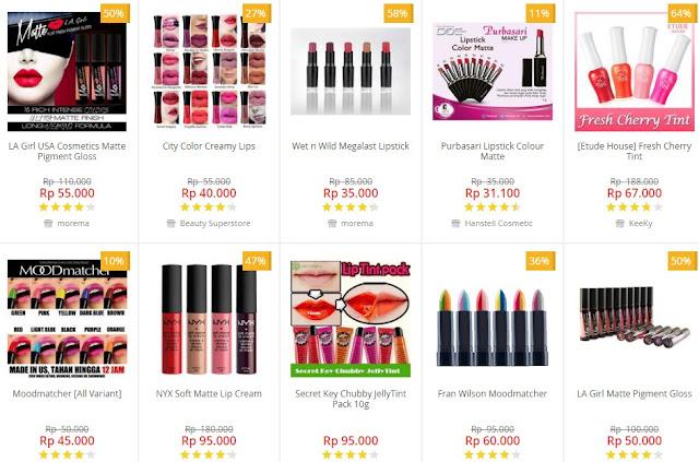 Belanja Lipstik Unggulan Harga Miring di Blanja dot Com