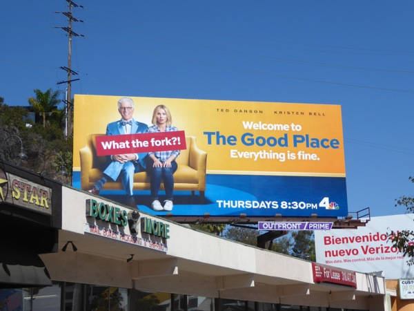 Good Place series launch billboard