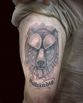 bear tattoo with names