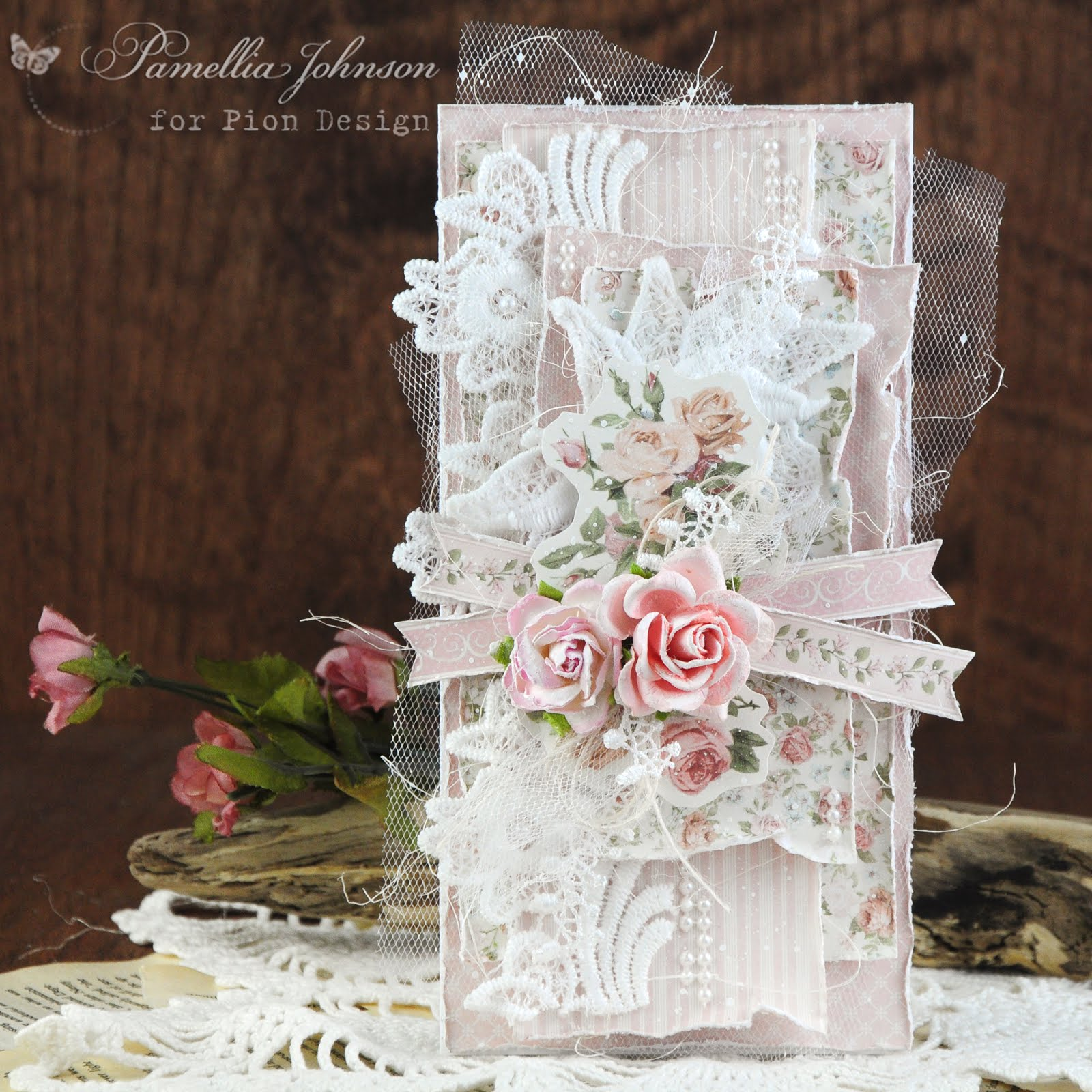 Pion Design - Peach and Pink Roses
