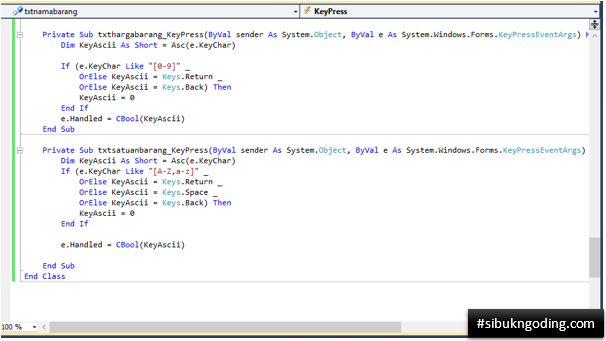 Membatasi Jenis Input Pada Textbox (Huruf Saja/Angka Saja