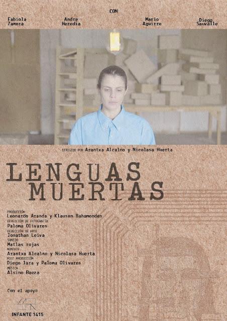 Cartel del cortometraje chileno dirigido por Arantxa Alcaíno y Nicolasa Huerta