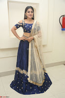 Niveda Thomas in Lovely Blue Cold Shoulder Ghagra Choli Transparent Chunni ~  Exclusive Celebrities Galleries 048.JPG