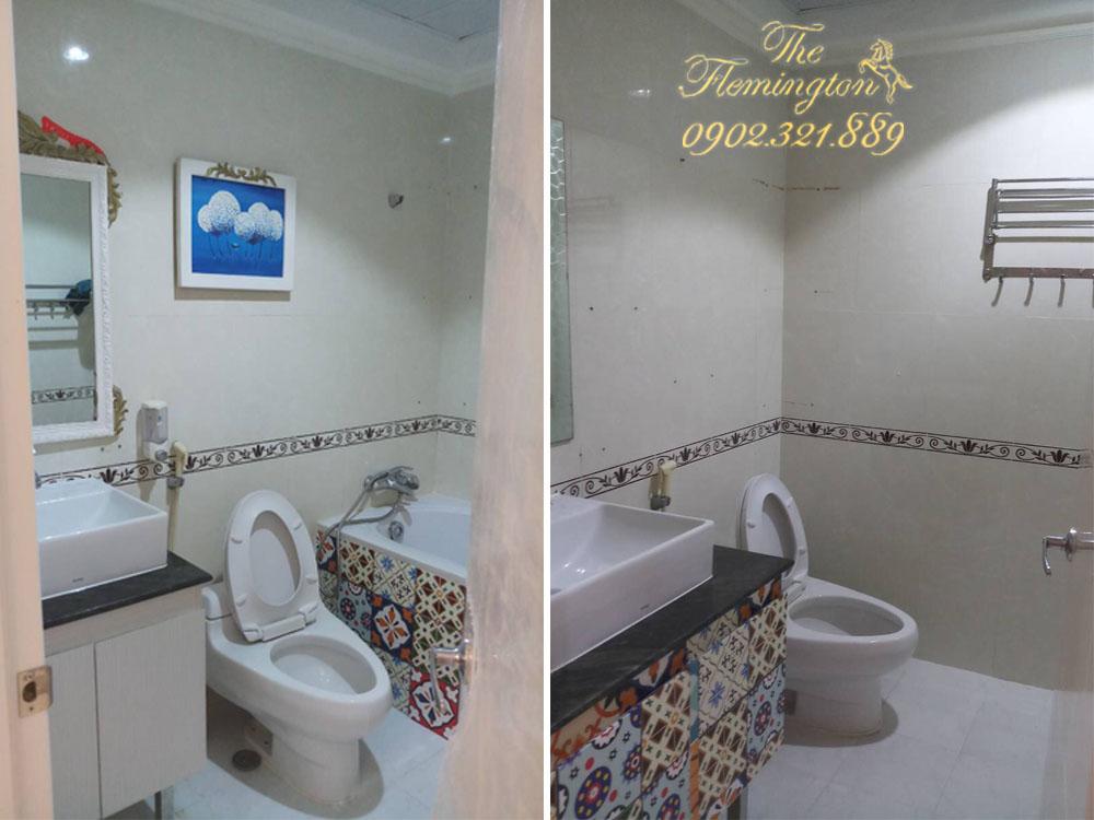 5 căn hộ THE FLEMINGTON cho thuê giá tốt nội thất đầy đủ - phòng tắm và vệ sinh