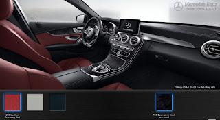 Nội thất Mercedes C300 AMG 2016 màu Đỏ Cranberry 267