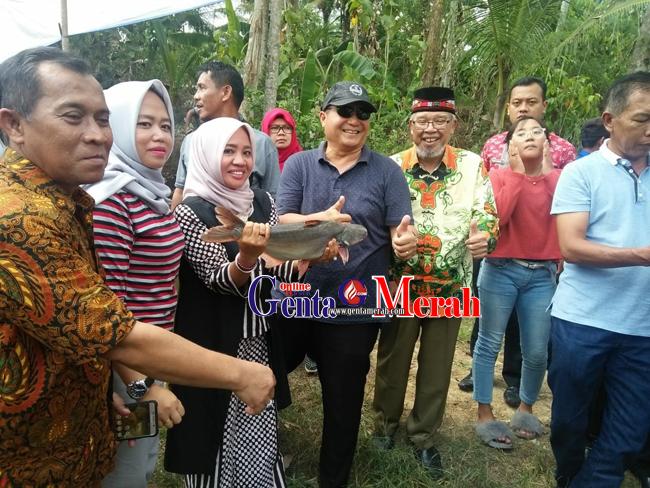 Belajar Budidaya Ikan Air Tawar, Bupati Bengkulu Selatan Kunjungi Pringsewu