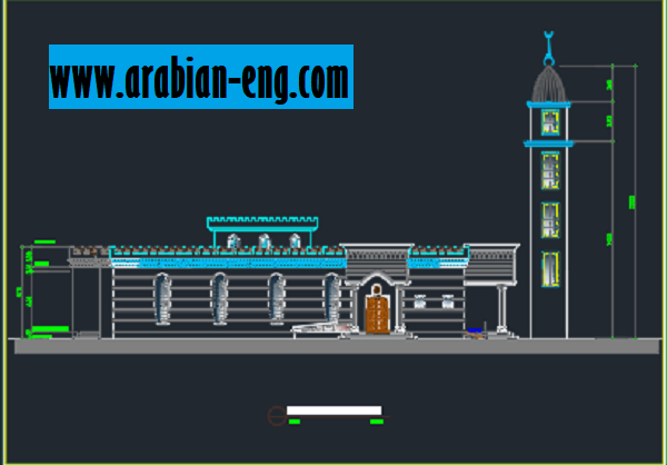 ملف الاوتوكاد الشامل لتصميم 7 مساجد
