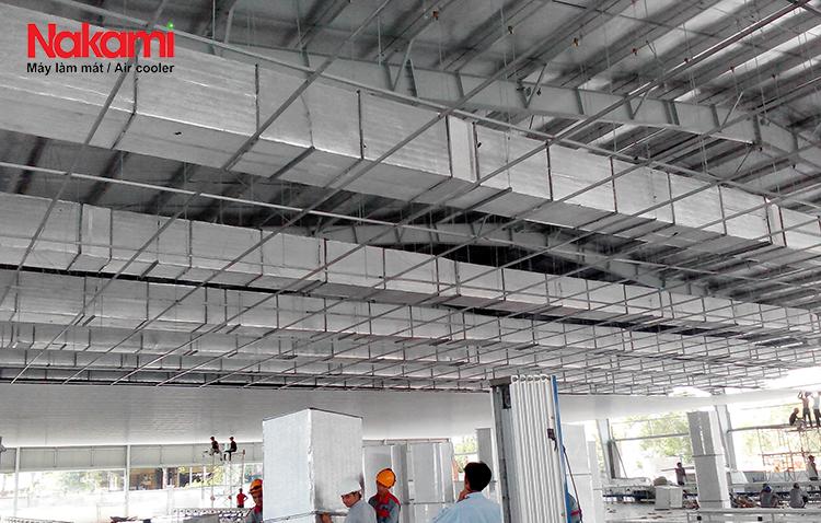 Dự án làm mát nhà xưởng May Nhà Bè- Hậu Giang