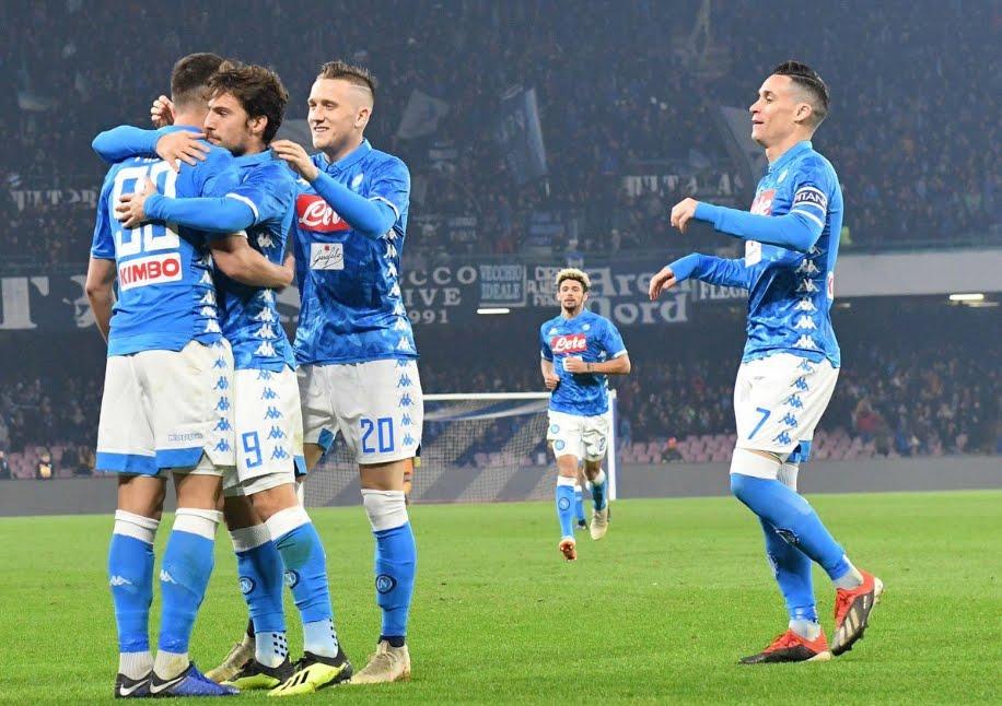 Napoli-Bologna Risultato: Mertens fa restare a -9 dalla Juventus in classifica.
