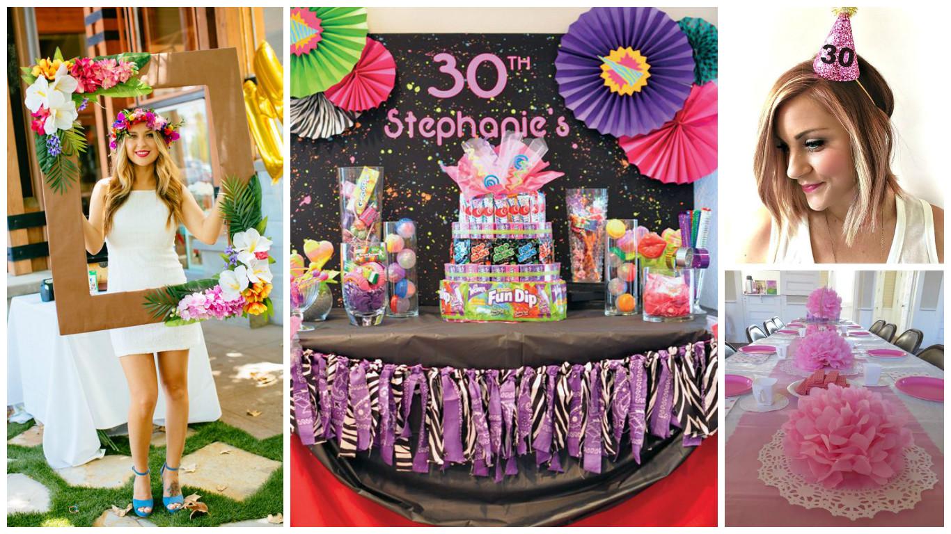 16 ideas para decorar una fiesta de cumplea os n mero 30 - 30 cumpleanos ideas ...