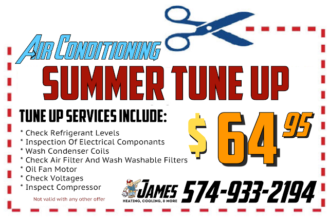 Air Conditioner tune up coupon for James Heating Cooling And More