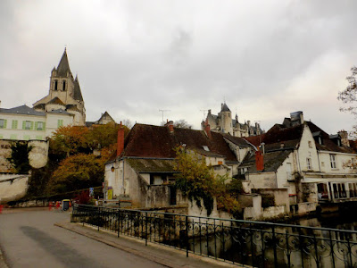 Loches in November looking up towards Saint Oars church