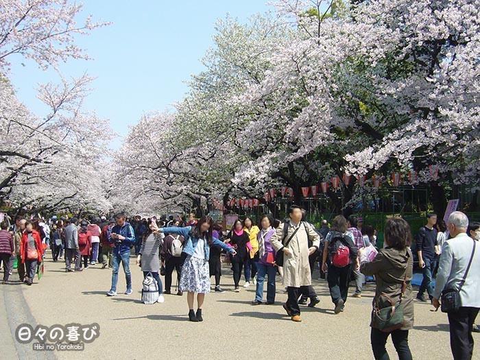 vue-allée-ueno-parc-foule