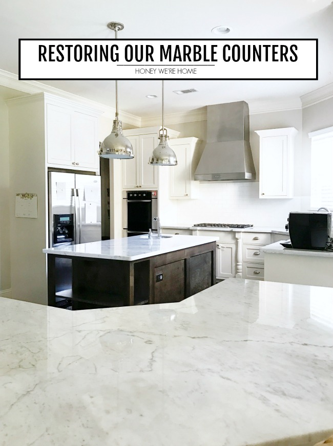 Restoring Our Marble Counters Honey