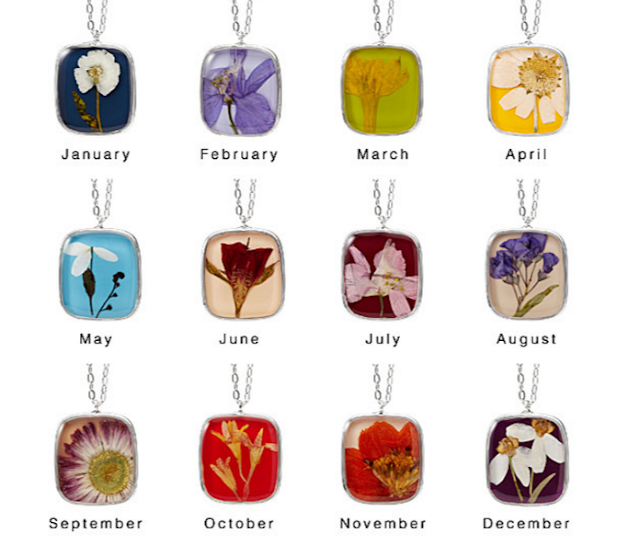 Birth Month Flower Necklaces from Uncommon Goods