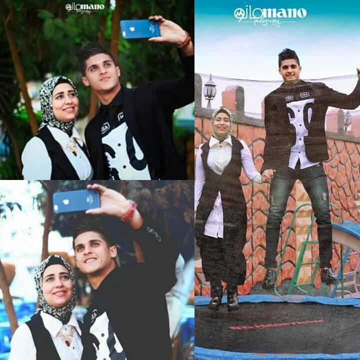 صور احمد الشيخ مع خطيبته