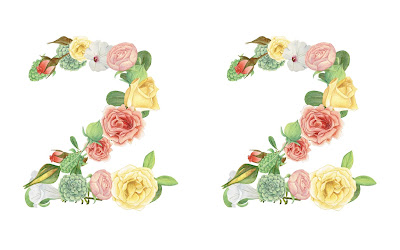 A floral number 22