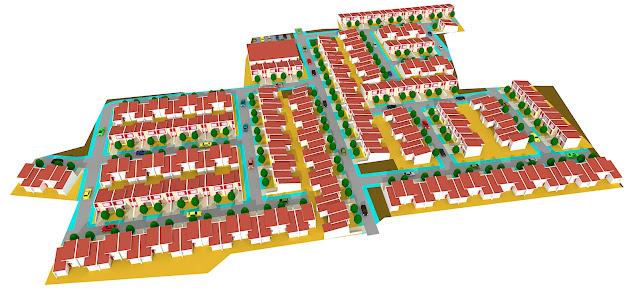 site plan perumahan kecil
