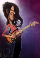 caricatura de guitarrista