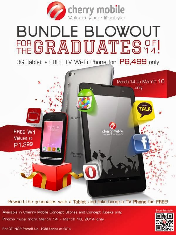 Cherry Mobile Bundle Blow-out for Graduates of 2014