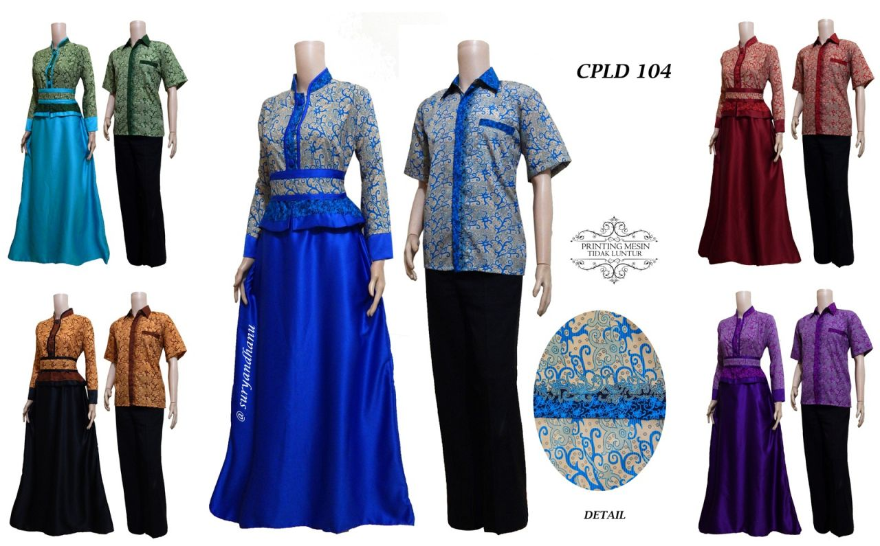 Baju Sarimbit Batik Semi Sutra Cpld 104 Solo Batik Store