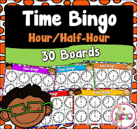 Time Bingo to the nearest half hour