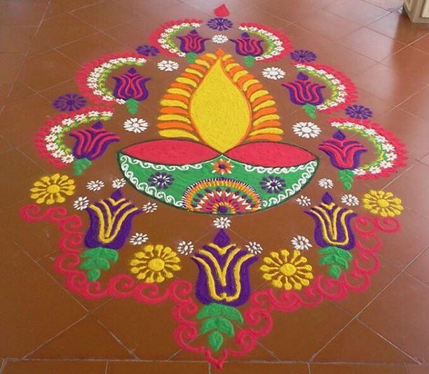 Happy Diwali Rangoil Designs 2017