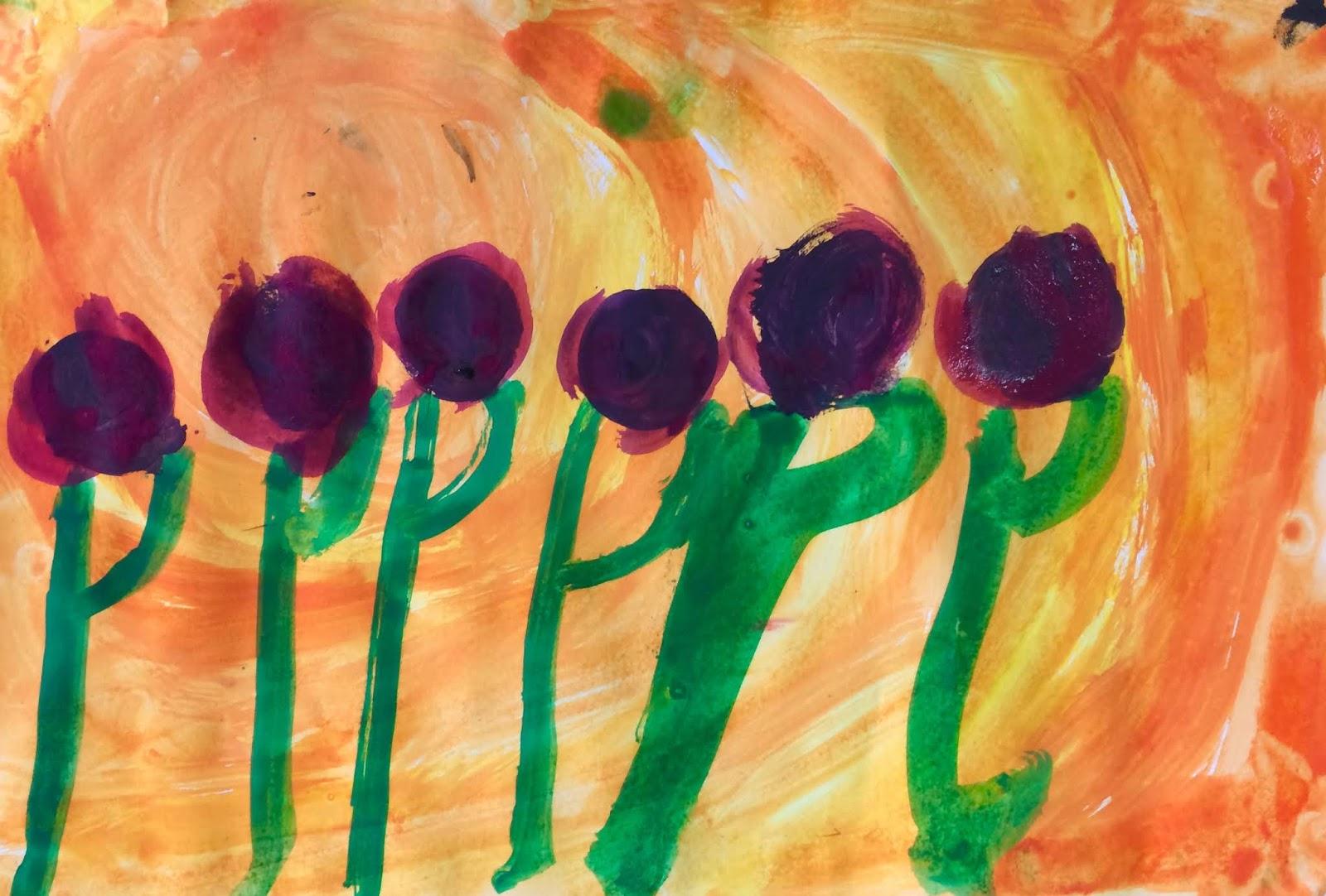 Culorile binare: Flori în asfințit