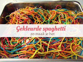 gekleurde spaghetti - zo maak je het