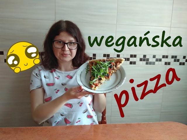 przepis na wegańską pizzę, wegańska pizza, pizza, jak zrobić pizzę, ciasto na pizzę, sos do pizzy, pizza bez sera, jak zrobić pizzę, wegańskie przepisy
