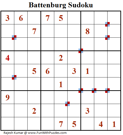 Battenburg Sudoku Puzzle (Fun With Sudoku #236)