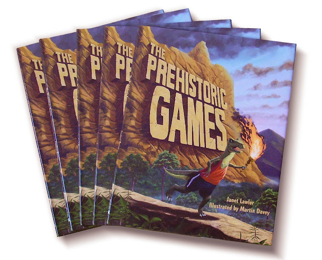 5 copies of the hardback dinosaur sports book