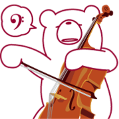 The bear UGOKUMA He plays a Cello.