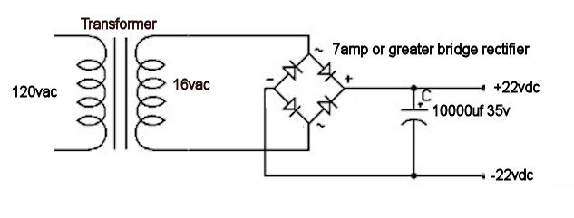 Robert's Tech blog.: Building an 18 Volt Power supply for