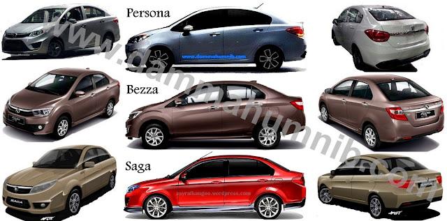 Perodua Bezza Vs Proton Saga Vs Proton Persona